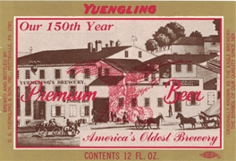 Yuengling Premium Beer 150th Anniversary 12 oz Label