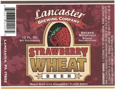 Lancaster Brewing Strawberry Wheat Beer Label