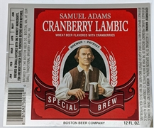 Samuel Adams Cranberry Lambic Label