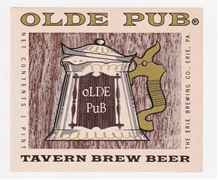 Olde Pub Tavern Brew Beer Label