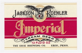 Jackson Koehler Imperial Cream Beer Label