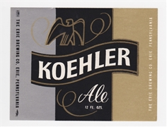 Koehler Ale Beer Label