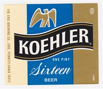 Koehler Sixteen Beer Label