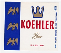 Koehler Beer Label