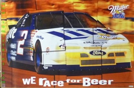 Miller Lite Racing Beer Poster