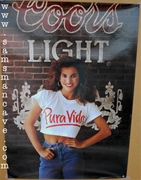 Coors Light Pura Vida Beer Poster