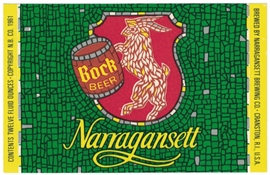 Narragansett Bock Beer Label