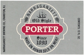Narragansett Porter Beer Label