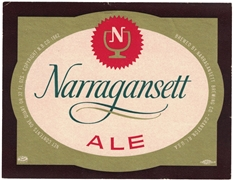 Narragansett Ale Label
