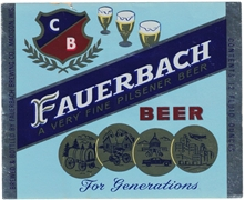 Fauerbach A Very Fine Pilsener Beer Label