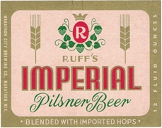Ruff's Imperial Pilsner Beer Label