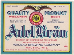 Adel Brau IRTP Beer Label