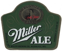Miller Ale Beer Label (foil)