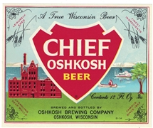 Chief Oshkosh Beer Label