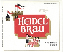 Heidel Brau Pilsner Beer Label
