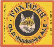 Fox Head Old Waukesha Ale Label