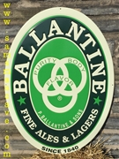 Ballantine Fine Ales & Lagers Metal Sign