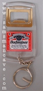 Budweiser Label Bottle Opener Keychain