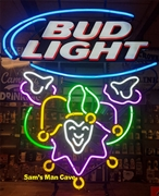 Bud Light Mardi Gras Neon