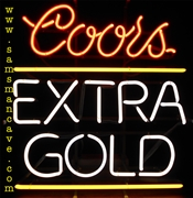 Coors Extra Gold Neon
