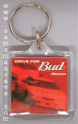 Budweiser Drive For Bud Racing Keychain