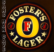 Fosters Lager Double Sided Pub Light