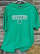 Guinness Beer Brand Irish Shamrock Green Print T Shirt