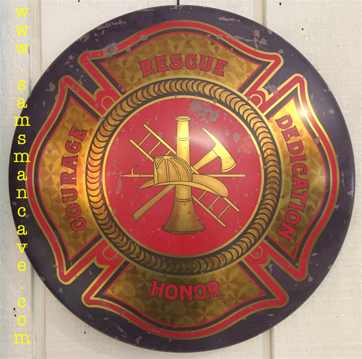Firemen Maltese Cross Sign