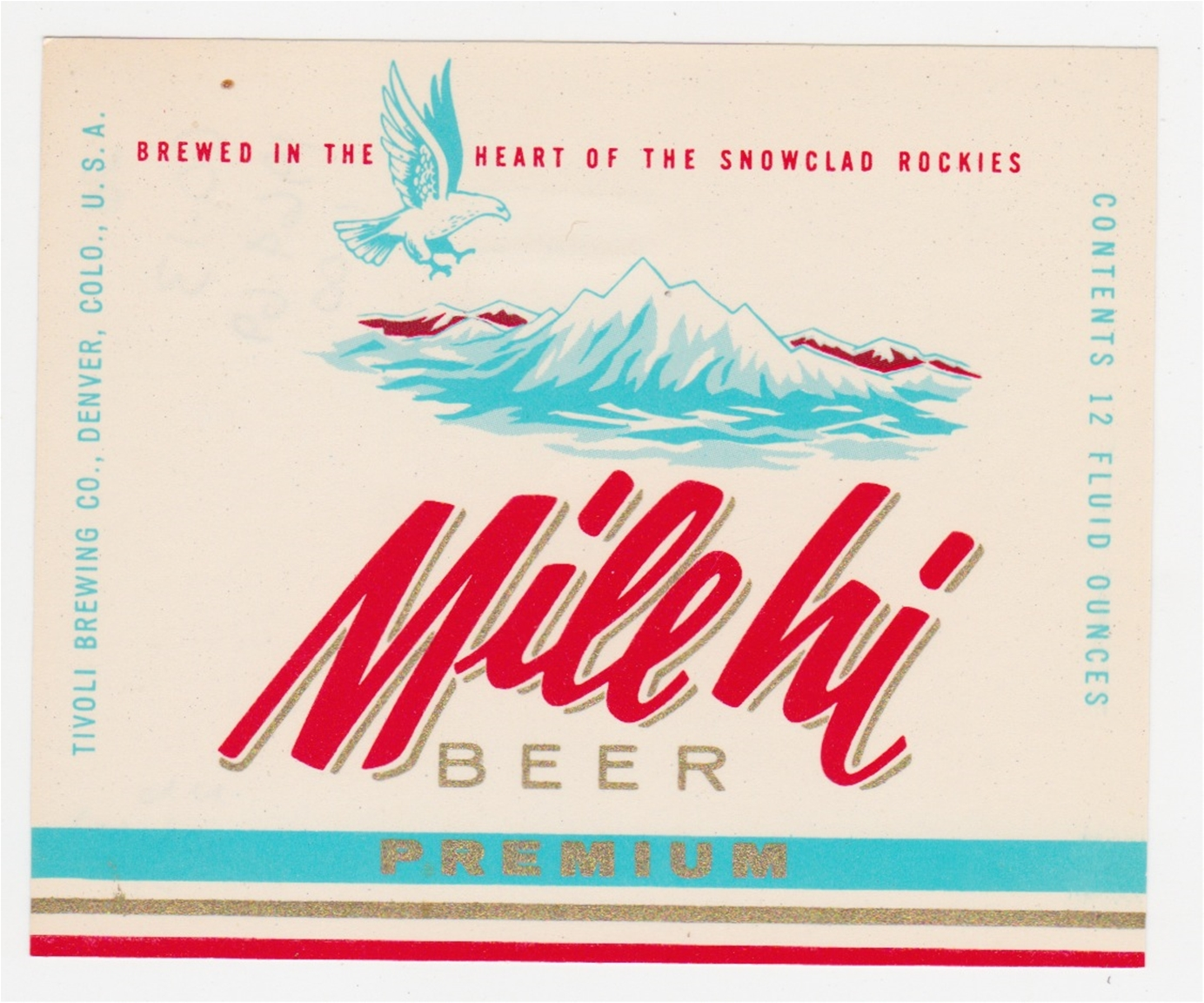 Mile Hi Beer Label
