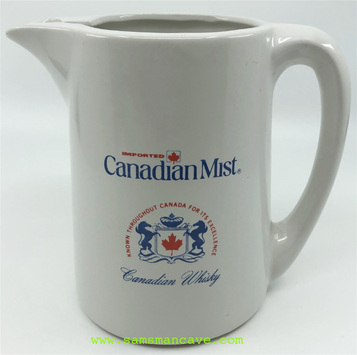 Canadian Mist Whiskey Pitcher