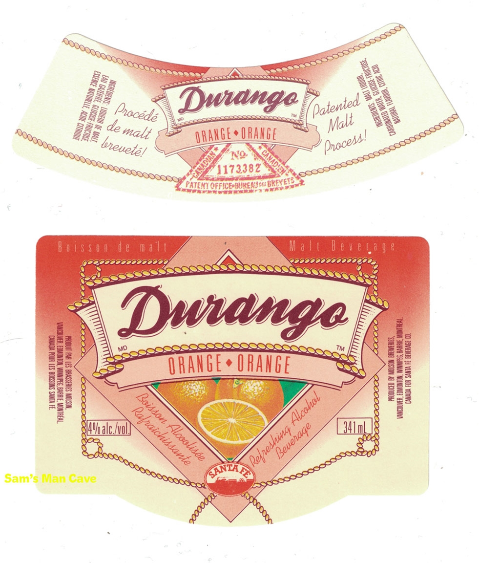 Durango Orange Malt Beverage Label
