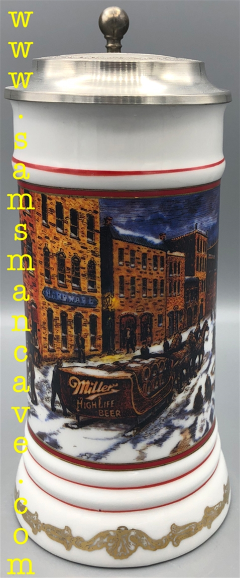 1990 Miller Waterfront Holidays Beer Stein