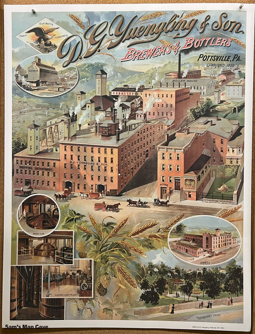 Yuengling Brewery Beer Poster
